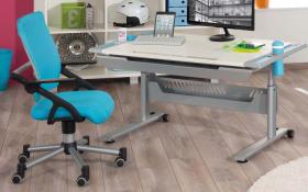 Schreibtisch-Stuhl Schoolworld in azurblau