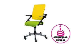 Schreibtischstuhl Tio in limette/gelb