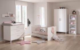 Babyzimmer Nils in kreideweiß, 2-türiger Kleiderschrank