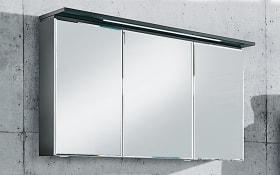 LED-Spiegelschrank WOW in anthrazit Hochglanz