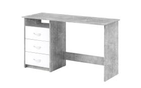 Schreibtisch Adria in Betonfarbig/weiß Matt