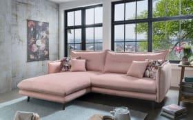 Wohnlandschaft Lazio in rosa, Ottomane links