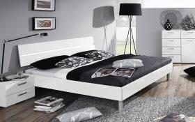 Bett Mavi Plus in weiß, 180 x 200 cm