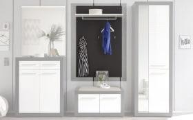 Garderoben-Paneel Kolibri in grau