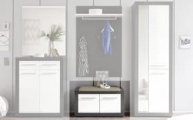 Garderobenbank Kolibri in weiß/grau
