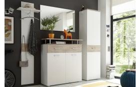 Garderobenkombination Lift in weiß/San Remo Eiche-Optik