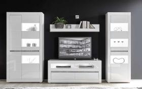 Wohnwand Carat In Weiß/Beton Optik