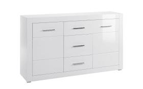 Sideboard Bianco in weiß/ Hochglanz-Optik