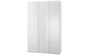 Drehtürenschrank New York D in weiß, Breite 135 cm