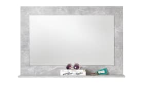 Wandspiegel Spicer 4 in Beton-Optik, 91 x 62 cm