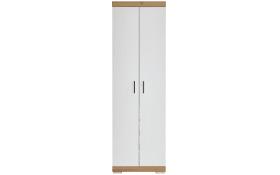 Garderobenschrank Bristol 500 in Alteiche-Optik/weiß Hochglanz