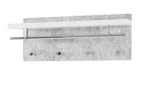 Wandgarderobe Pablo 3 in Beton-Optik