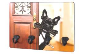 Schlüsselboard Hund in bunt/schwarz