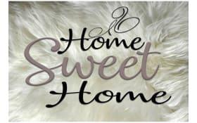 Deko-Paneel, Motiv: sweet home, 20 x 30 cm