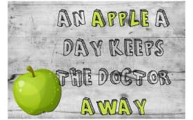 Deko-Paneel Dina mit Motiv: Apple, 30 x 20 cm