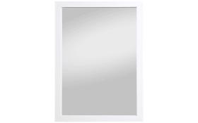 Spiegel Kathi in weiß Hochglanz, 48 x 68 cm