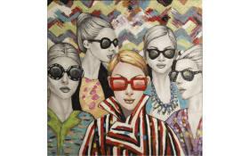 Leinwandbild Original Rimbo mit Motiv: Fashion, 100 x 100 cm