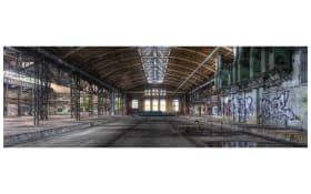 Leinwandbild Cleo, Motiv: industry hall, 50 x 150 cm