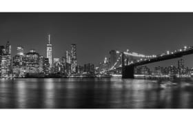 Leinwandbild Nami, Motiv: New York at night, ca. 50 x 100 cm