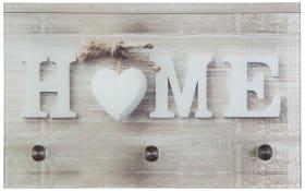 Glasgarderobe Pepe mit Home-Motiv, 25 x 40 cm