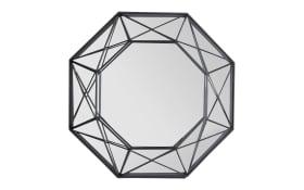 Metallspiegel Lina in schwarz, 46 x 46 cm