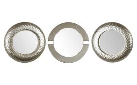 Rahmenspiegel-Set Anja in Silber-Optik, 25 cm