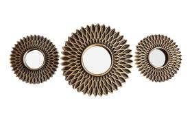 Rahmenspiegel-Set Michelle in schwarz/Gold-Optik, 30 cm