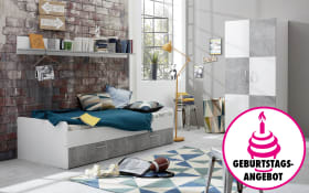 Jugendzimmer Canaria in Stone-Optik/weiß