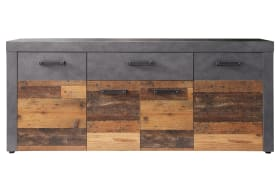 Sideboard Indy in Graphit/Altholzoptik