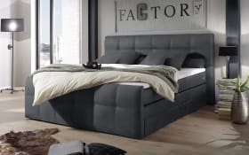 Boxspringbett Sacramento B2 in anthrazit