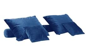 Kissen-Set 6-teilig in blau