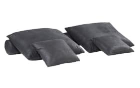 Kissen-Set 6-teilig in schwarz