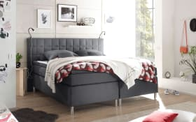 Boxspringbett Victoria 3 in anthrazit