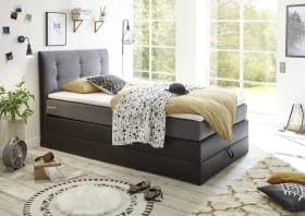 Boxspringbett Canberra 1 in schwarz/anthrazit
