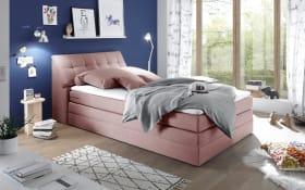 Boxspringbett Space 2 in rosa, Liegefläche ca. 120 x 200 cm