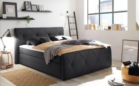 Boxspringbett Calgary 2 in schwarz, inklusive Bettkästen und Komfortschaum-Topper