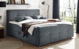 Polsterbett Winnipeg 6 in anthrazit, inklusive Bettkästen und Komfortschaumtopper