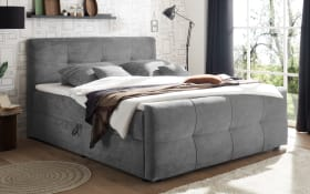 Boxspringbett Winnipeg 6 in dark grey, inklusive Bettkästen und Komfortschaumtopper
