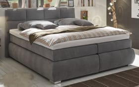 Boxspringbett Bologna 8 in light grey