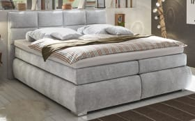 Boxspringbett Bologna 8 in light grey, mit Bettkasten, inklusive Komfortschaum-Topper