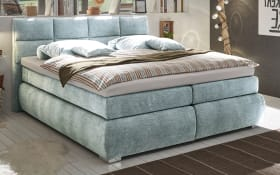 Boxspringbett Bologna 8 in mint, mit Bettkasten, inklusive Komfortschaum-Topper