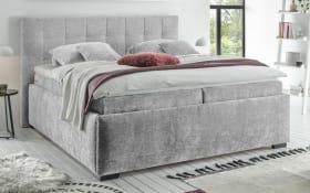 Polsterbett Trio A 6 in light grey, mit 7-Zonen-Tonnentaschen-Federkernmatratzen, Liegefläche ca. 180 × 200 cm