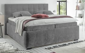 Polsterbett Trio A 6 in grey, mit 7-Zonen-Tonnentaschen-Federkernmatratzen, Liegefläche ca. 180 × 200 cm