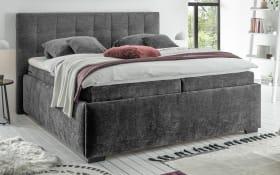 Polsterbett Trio A 6 in dark grey, mit 7-Zonen-Tonnentaschen-Federkernmatratzen, Liegefläche ca. 180 × 200 cm