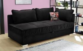 Einzelliege Dana in schwarz, mit Bettkasten