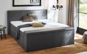 Boxspringbett BX1160 Chicago in dark grey
