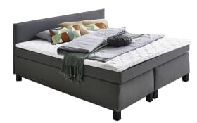 Boxspringbett Philly in grau, 180 x 200 cm