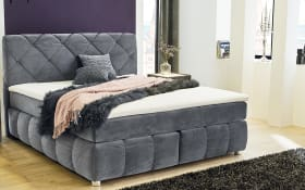 Boxspringbett Bella in grau