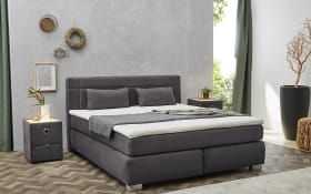 Boxspringbett Romana Mix in dunkelgrau