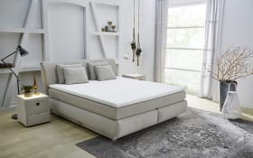Boxspringbett Caral Mix in beige